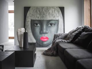 Villa Haren Moderne woonkamers van Studio Mariska Jagt Modern