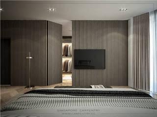Quartos modernos por Singapore Carpentry Interior Design Pte Ltd Moderno