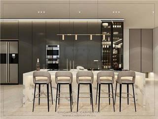 Cozinhas modernas por Singapore Carpentry Interior Design Pte Ltd Moderno