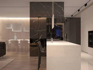Salon minimaliste par Dmitriy Khanin Minimaliste