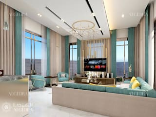 Contemporary living room design in Dubai Modern Living Room by Algedra Interior Design Modern