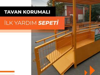 Industrial style walls & floors by Bayrakcı Metal İnşaat Industrial