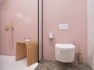 Smile Bath S.A. Baños de estilo minimalista Rosa