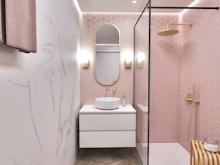 Smile Bath S.A. Minimalist style bathroom Pink