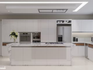 Camila Pimenta | Arquitetura + Interiores Kitchen units Wood White