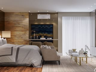 Camila Pimenta | Arquitetura + Interiores Small bedroom Wood Beige