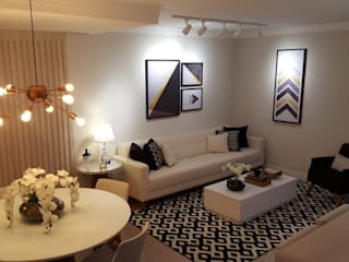 Apartamento Campinas Studio4Interiores Salas de estar modernas