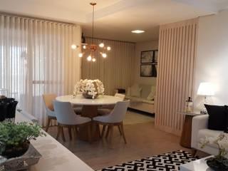 Apartamento Campinas Studio4Interiores Salas de jantar modernas