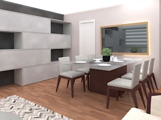Shirley Palomino Modern dining room Wood Brown