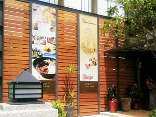 外牆造型/圍籬/天花 杉澤國際有限公司 庭院遮陽棚 塑木複合材料 Wood effect