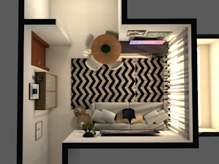 Revisite Minimalist living room