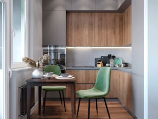 Студия дизайна 'INTSTYLE' Built-in kitchens Wood Brown
