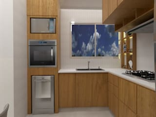 RC INTERIORES KitchenCabinets & shelves MDF Wood effect