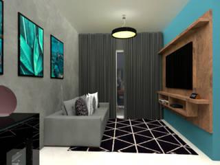 RC INTERIORES Multimedia roomAccessories & decoration Beton Blue