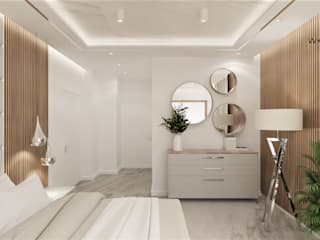 Wkwadrat Architekt Wnętrz Toruń Small bedroom MDF White