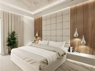 Wkwadrat Architekt Wnętrz Toruń Small bedroom Wood Grey