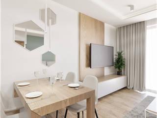 Wkwadrat Architekt Wnętrz Toruń 餐廳 MDF Wood effect