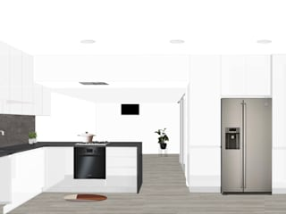 Desenho Branco Dapur Modern White