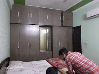 Bedroom interior design project and renovation in Hazratganj, Lucknow. by Decoruss-Best Residential Interior Designer in lucknow,Best Interior Designing Services in lucknow, Interior decorator