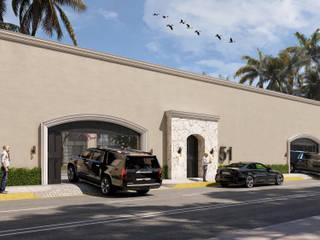 SG Huerta Arquitecto Cancun Mediterrane Wände & Böden Weiß