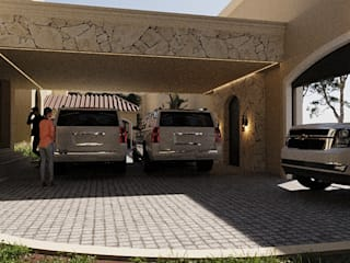 SG Huerta Arquitecto Cancun Double Garage Stone White