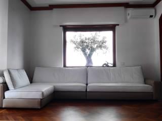 Dr-Z Architects Livings de estilo moderno Madera maciza Blanco