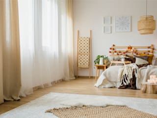 Floorwell Scandinavian style bedroom Wood