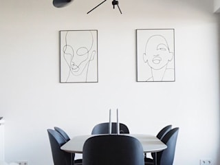 Designservice+ Sala da pranzo minimalista