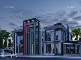 Modern villa design in Abu Dhabi Modern Houses by Algedra Interior Design Modern
