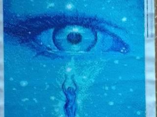 Diamond Painting, uma nova forma de arte ArtworkPictures & paintings Flax/Linen Blue