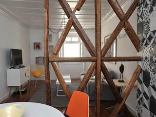 BORDEAUX CENTRE- Rénovation totale d'un 3 pièces de caractère SAB & CO Salon moderne