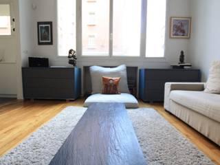 PARIS CHABRIER Restructuration totale d'un 120 m2 SAB & CO Salon moderne