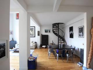 PARIS CHABRIER Restructuration totale d'un 120 m2 SAB & CO Escalier