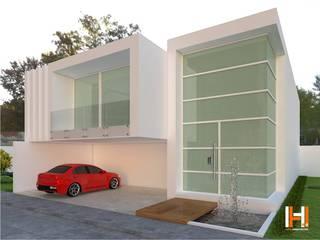 Minimalistyczne domy od HHRG ARQUITECTOS Minimalistyczny