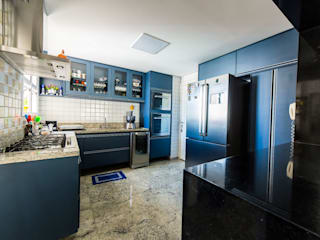 MARIA IGNEZ DELUNO arquitetura Kitchen units Blue