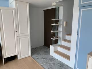 敬業二路樓中樓裝修案 經典風格的走廊,走廊和樓梯 根據 捷士空間設計(省錢裝潢) 古典風