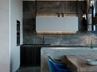 Minimalist kitchen by Interior designers Pavel and Svetlana Alekseeva Minimalist