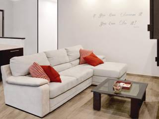Ristrutturazione appartamento 80 mq – Roma Soggiorno moderno di Francesca Rubbi Architecture Moderno