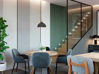 Industrial style living room by Interior designers Pavel and Svetlana Alekseeva Industrial