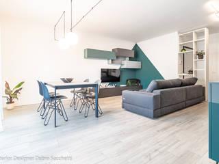 Debra Sacchetti Livings de estilo moderno Verde