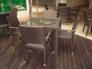 OVERSEAS CAFE Horestco Industries ( M) Sdn bhd Dining roomTables Rattan/Wicker Brown