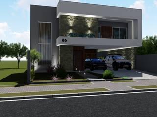 Casa C&L - Portão Danilo Rodrigues Arquitetura Casas familiares