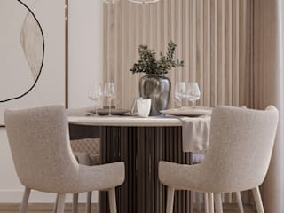 Nevi Studio Ruang Makan Klasik Kayu Beige
