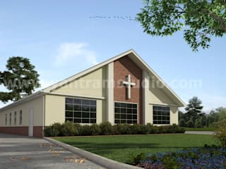 Small Church Architectural Building of Exterior Rendering Services by Architectural visualisation studio, Giza - Egypt Yantram Architectural Design Studio Klasik