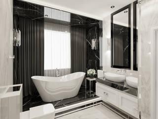 Wkwadrat Architekt Wnętrz Toruń Modern bathroom Stone Black