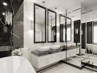 Wkwadrat Architekt Wnętrz Toruń Classic style bathroom Stone White