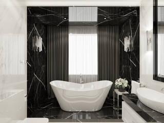 Wkwadrat Architekt Wnętrz Toruń Modern bathroom Marble Metallic/Silver