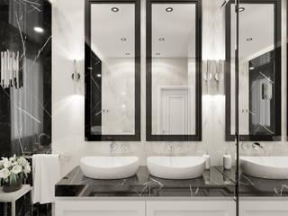 Wkwadrat Architekt Wnętrz Toruń 現代浴室設計點子、靈感&圖片 大理石 Black