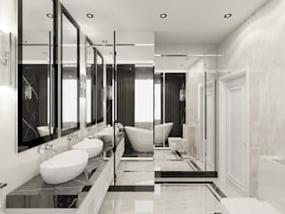 Wkwadrat Architekt Wnętrz Toruń 浴室 石器 Black