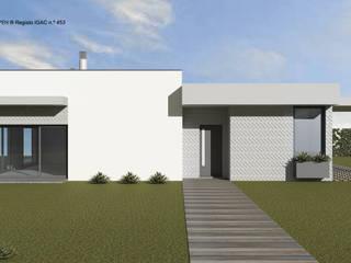 ATELIER OPEN ® - Arquitetura e Engenharia Einfamilienhaus Eisen/Stahl Weiß